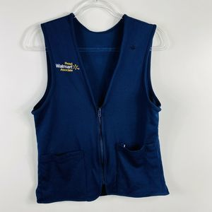 Walmart Employee Uniform Vest Blue Unisex